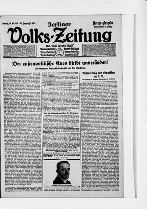 Berliner Volkszeitung vom 19.05.1925