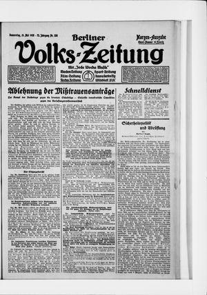 Berliner Volkszeitung vom 21.05.1925