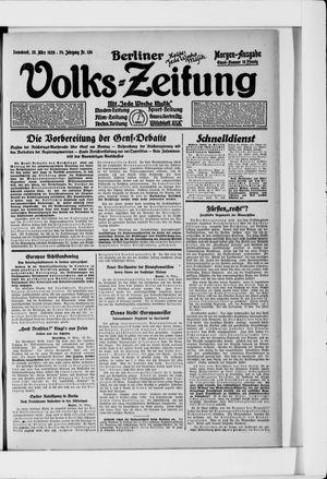 Berliner Volkszeitung vom 20.03.1926