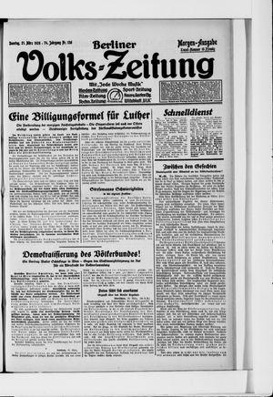 Berliner Volkszeitung vom 21.03.1926