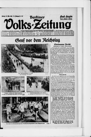 Berliner Volkszeitung vom 22.03.1926