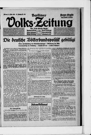 Berliner Volkszeitung vom 24.03.1926
