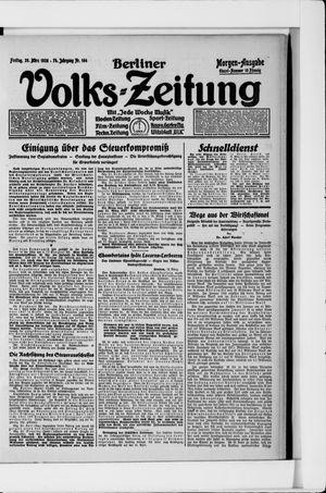 Berliner Volkszeitung vom 26.03.1926