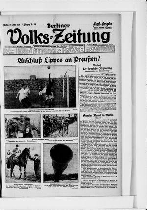 Berliner Volkszeitung vom 29.03.1926