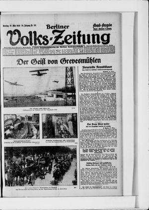 Berliner Volkszeitung on Mar 30, 1926