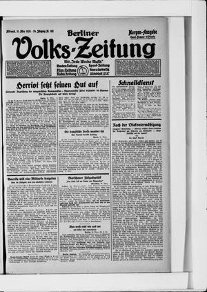 Berliner Volkszeitung vom 31.03.1926