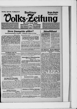 Berliner Volkszeitung vom 01.04.1926