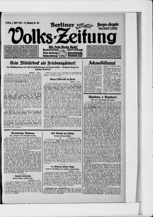 Berliner Volkszeitung vom 02.04.1926