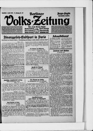 Berliner Volkszeitung on Apr 3, 1926