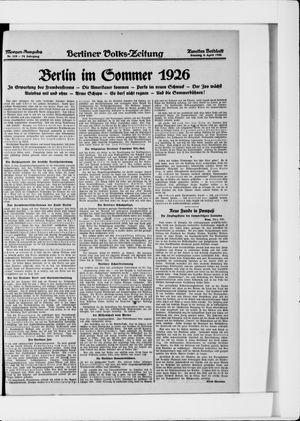 Berliner Volkszeitung vom 04.04.1926