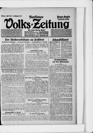 Berliner Volkszeitung vom 06.04.1926