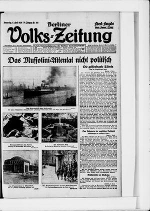 Berliner Volkszeitung vom 08.04.1926