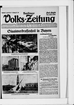 Berliner Volkszeitung vom 10.04.1926