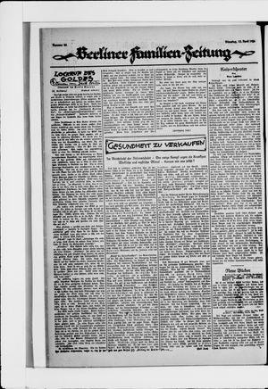 Berliner Volkszeitung vom 13.04.1926