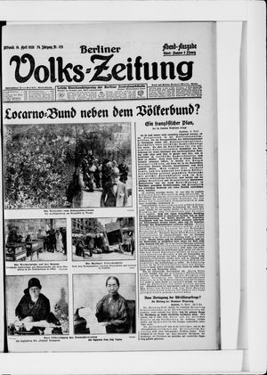 Berliner Volkszeitung vom 14.04.1926