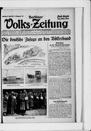 Berliner Volkszeitung vom 15.04.1926