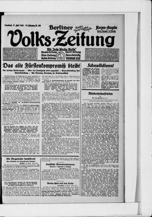 Berliner Volkszeitung vom 17.04.1926