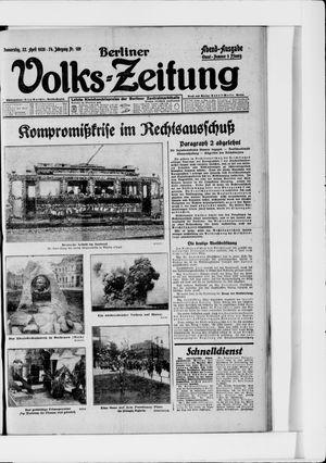Berliner Volkszeitung vom 22.04.1926