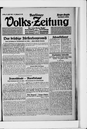 Berliner Volkszeitung vom 23.04.1926