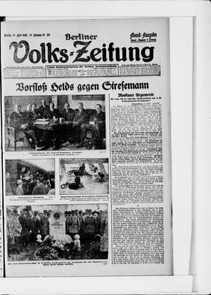 Berliner Volkszeitung vom 26.04.1926