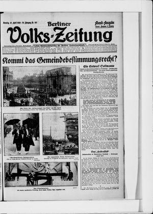 Berliner Volkszeitung vom 27.04.1926