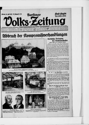 Berliner Volkszeitung vom 28.04.1926
