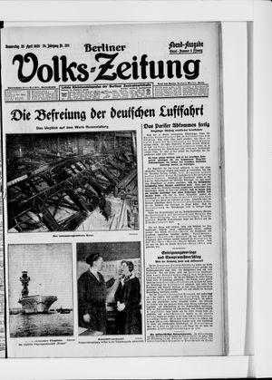Berliner Volkszeitung vom 29.04.1926