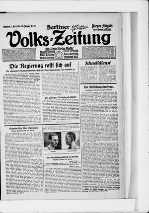 Berliner Volkszeitung vom 01.05.1926