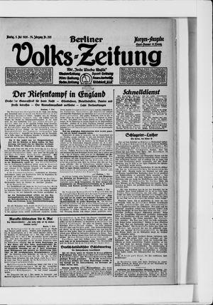 Berliner Volkszeitung vom 03.05.1926