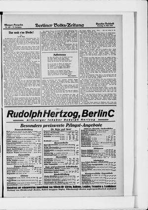 Berliner Volkszeitung vom 16.05.1926