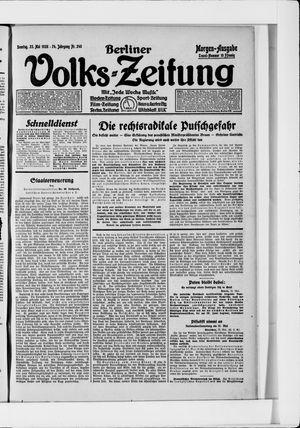 Berliner Volkszeitung vom 23.05.1926