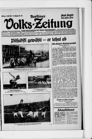 Berliner Volkszeitung vom 31.05.1926