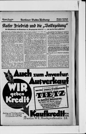 Berliner Volkszeitung vom 01.01.1927
