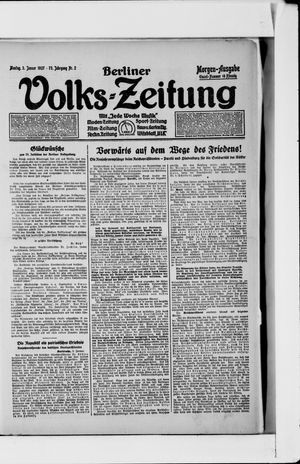 Berliner Volkszeitung vom 03.01.1927