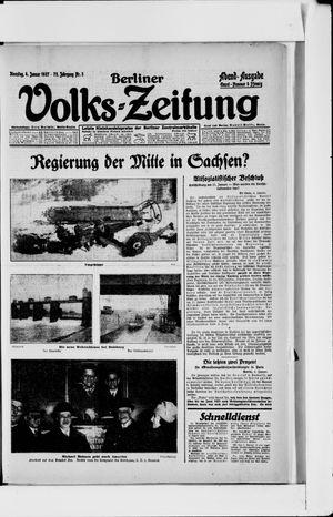 Berliner Volkszeitung vom 04.01.1927
