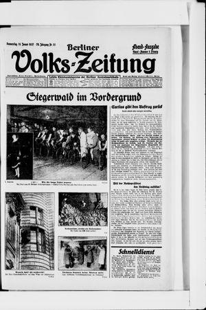 Berliner Volkszeitung vom 13.01.1927