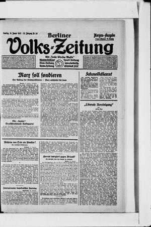 Berliner Volkszeitung vom 16.01.1927