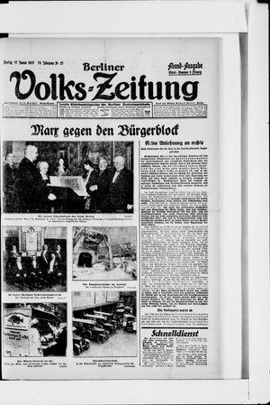 Berliner Volkszeitung vom 17.01.1927