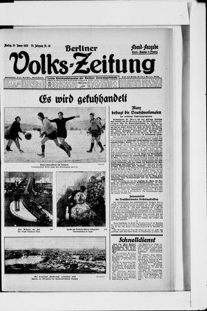 Berliner Volkszeitung vom 24.01.1927