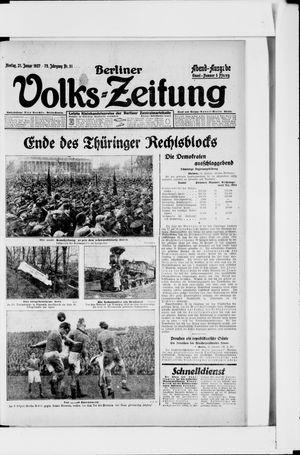 Berliner Volkszeitung vom 31.01.1927