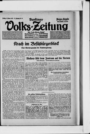 Berliner Volkszeitung on Feb 4, 1927