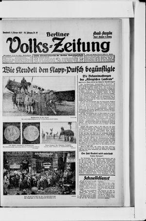 Berliner Volkszeitung vom 05.02.1927