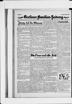 Berliner Volkszeitung vom 08.02.1927