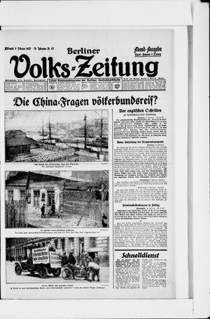 Berliner Volkszeitung vom 09.02.1927