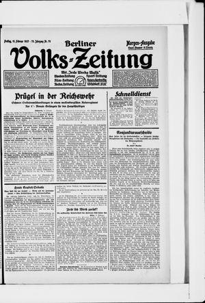 Berliner Volkszeitung vom 11.02.1927