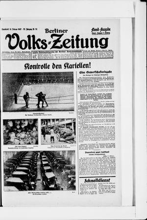 Berliner Volkszeitung vom 12.02.1927