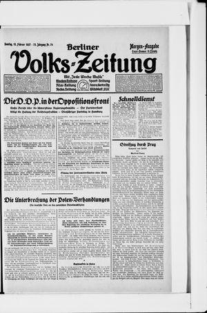 Berliner Volkszeitung vom 13.02.1927
