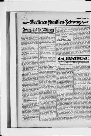 Berliner Volkszeitung vom 17.02.1927