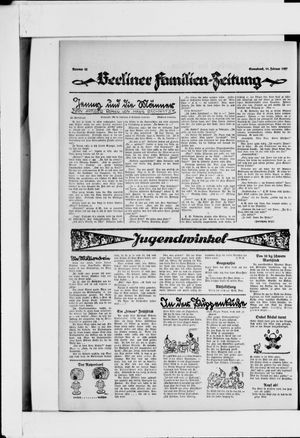 Berliner Volkszeitung vom 19.02.1927