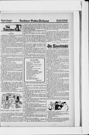 Berliner Volkszeitung vom 20.02.1927